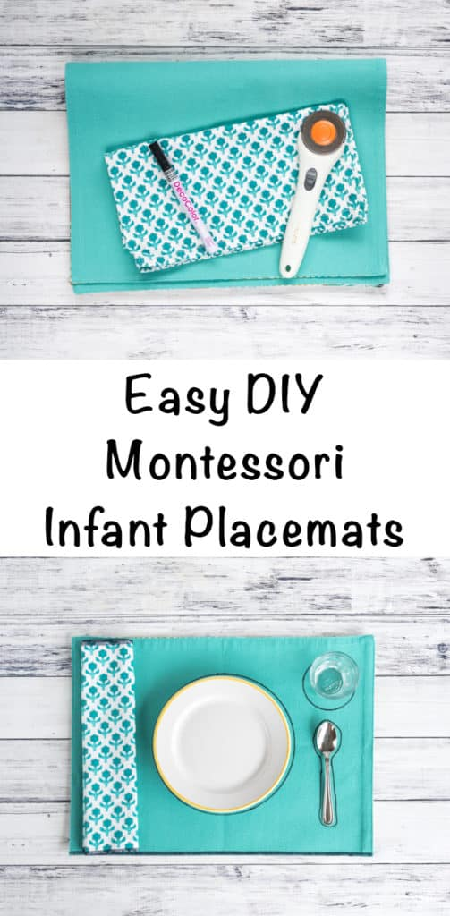 Easy DIY Montessori Infant Placemats