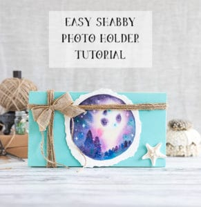 Easy Shabby Photo Holder Tutorial