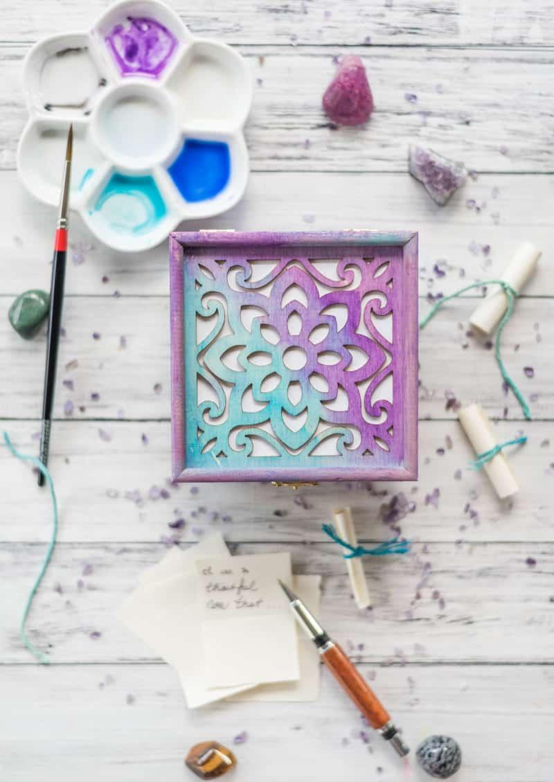 DIY Watercolor Manifestation-Wish Box Tutorial - with video!
