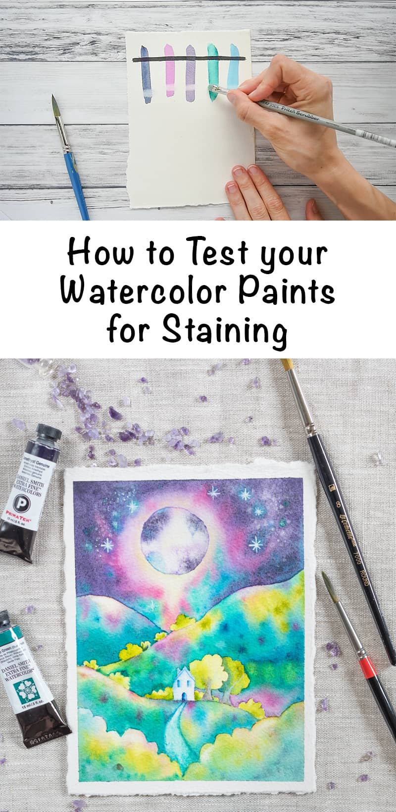How to Test your Watercolor Paints for Staining is Live on Skillshare!