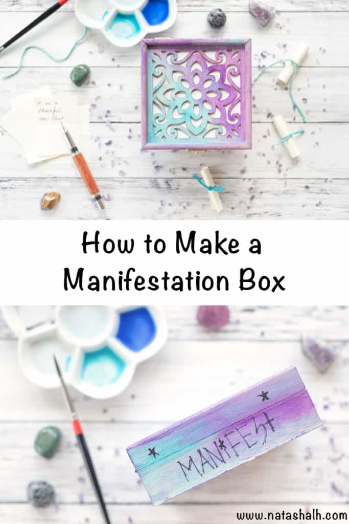 how to make a manifestation box with watercolors. Also great as a gratitude, wish, or prayer box!