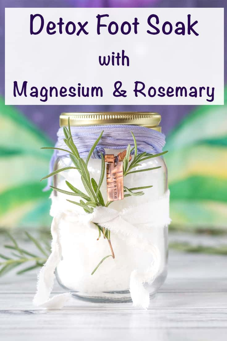 Detox foot soak with magnesium and rosemary