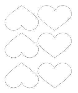 6 printable heart templates
