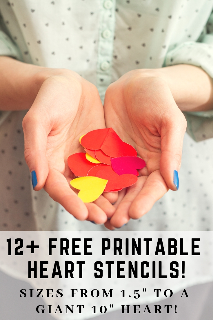 Free Printable Heart Stencils For Valentines Day Templates Including An Extra Large