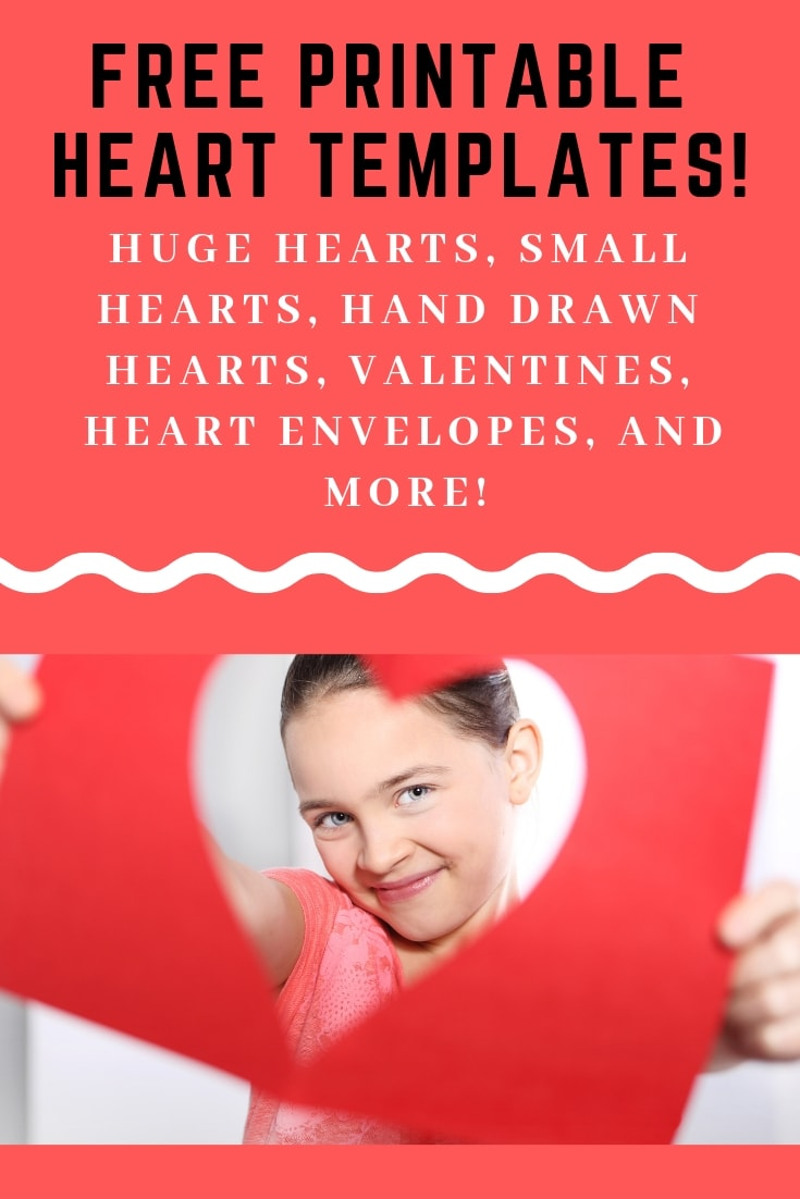 Loads of free printable heart templates for Valentines Day