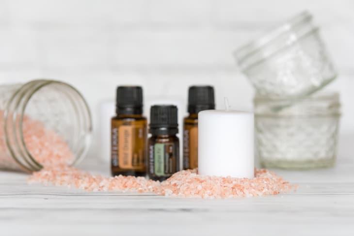 homemade diffuser with Himalayan salt