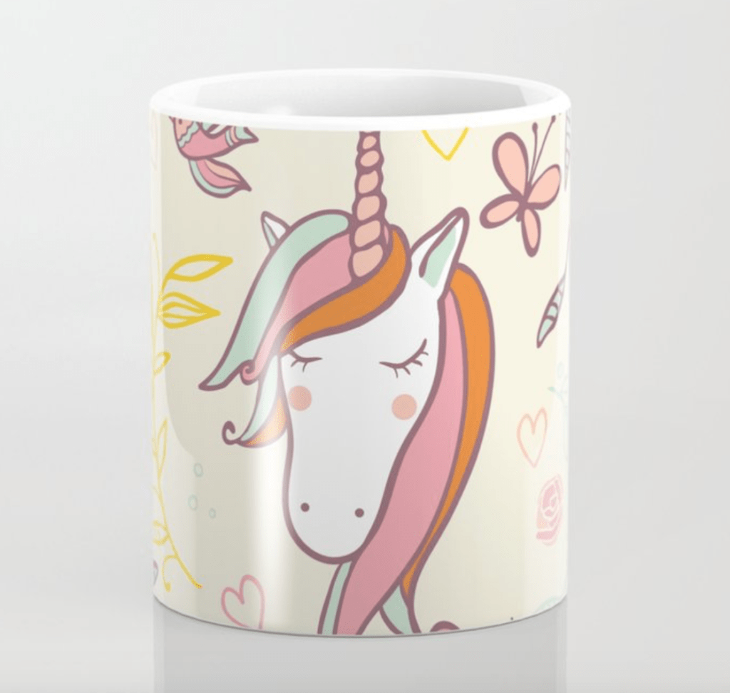 unicorn mug on society6