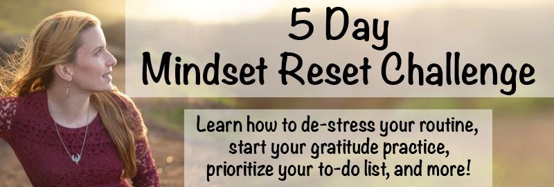 5 day mindset reset challenge