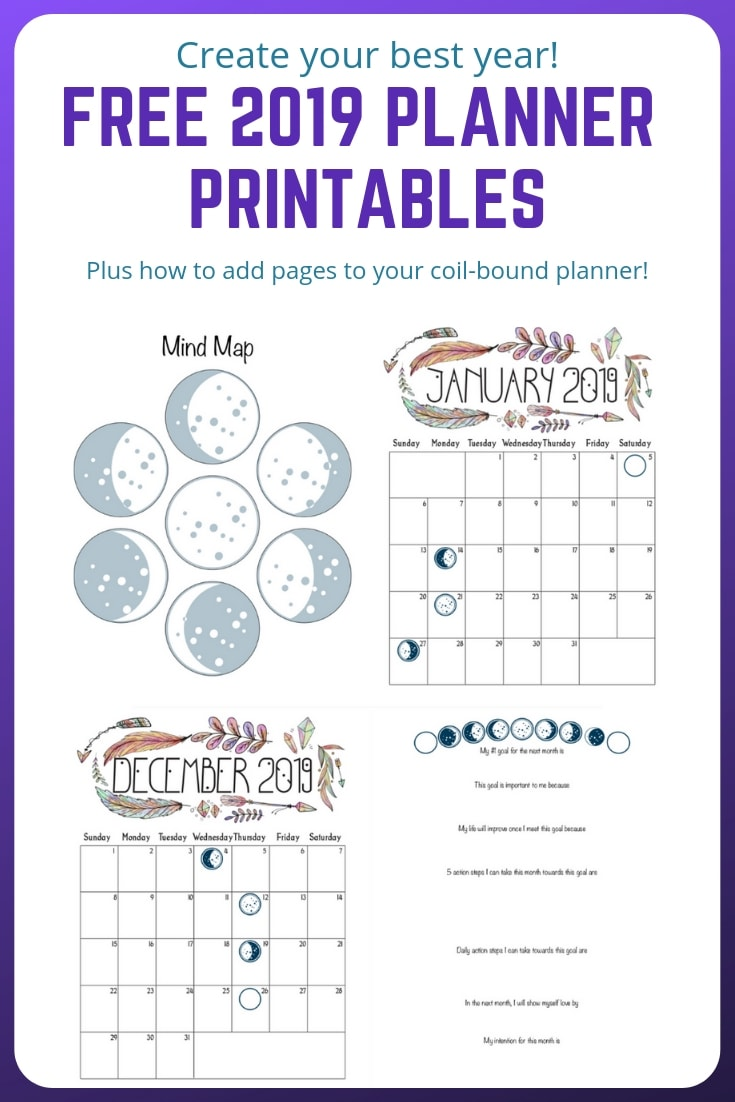 Free planner printables and how to add pages to your coil-bound planner #plannerprintable #plannerlove #freeprintable