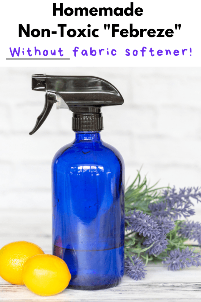 Homemade non-toxic Febreze without fabric softener!