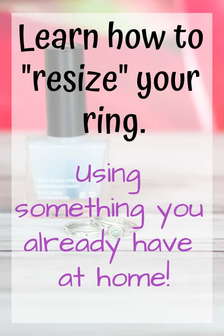 resize your ring at home with nail polish