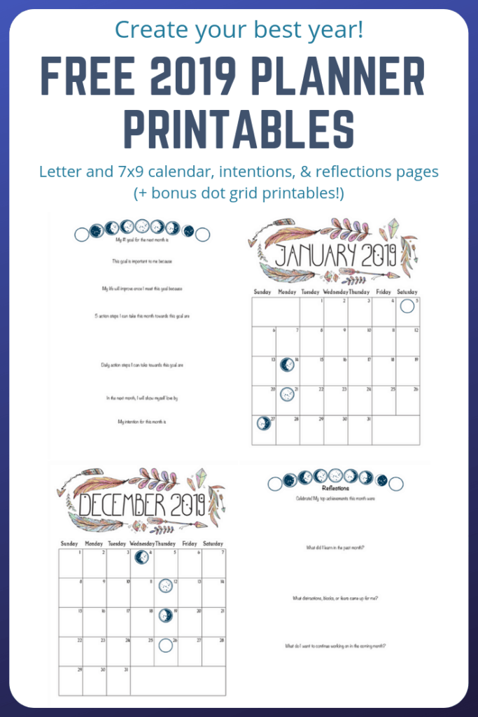 free 2019 planner printables