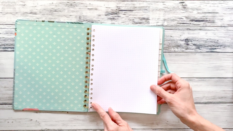 how to add pages to a coil bound planner without undoing the binding