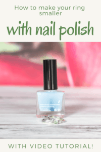 how to make your ring smaller with nail polish