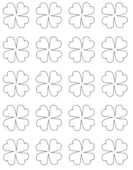 1.5 four leaf clover template