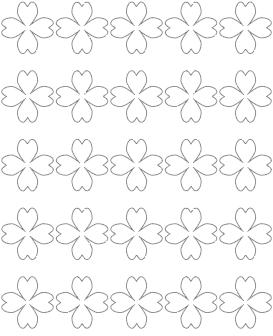 1.5 heart-shaped shamrock template