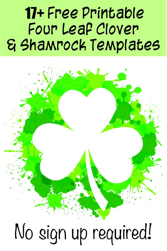17+ free printable four leaf clover templates
