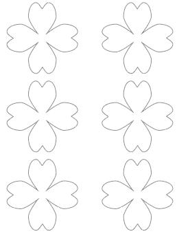 3 heart shaped shamrock free printable