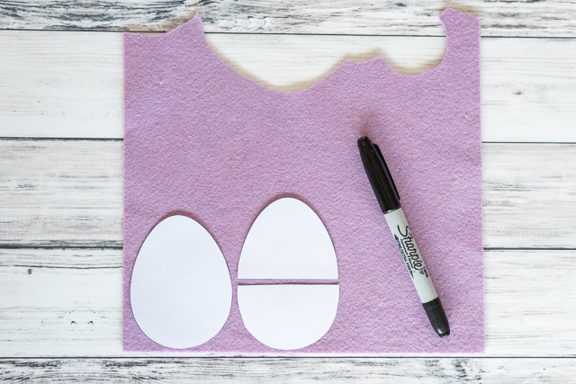 trace your printable egg template and cut out