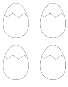 4 hatching easter egg printable template