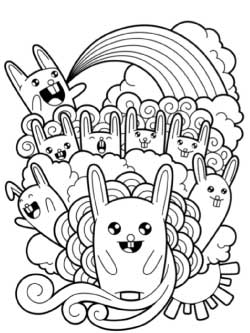 cartoon-bunnies-and-rainbows-coloring-page