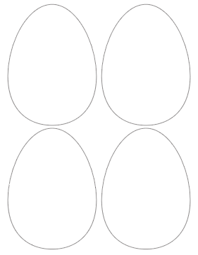photo regarding Egg Printable titled Totally free Easter Egg Template Printable - Floss Papers
