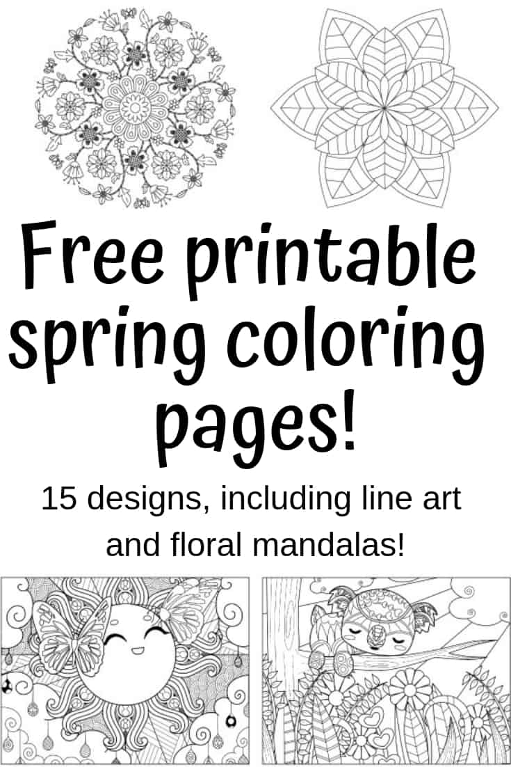 free printable coloring pages for spring
