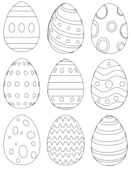 preview of Easter egg coloring pages free printables