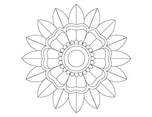 simple floral mandala coloring page