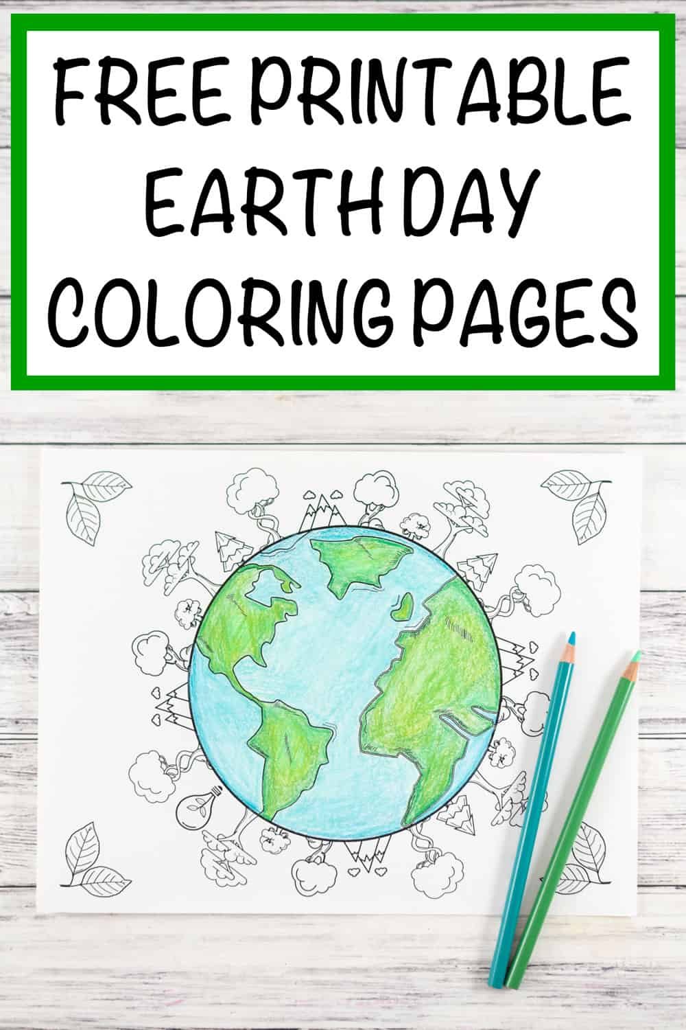 20+ Earth Day and Environmental Coloring Pages - The ...