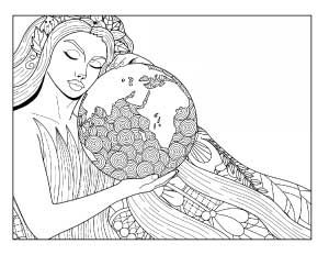 mother-earth-coloring-page