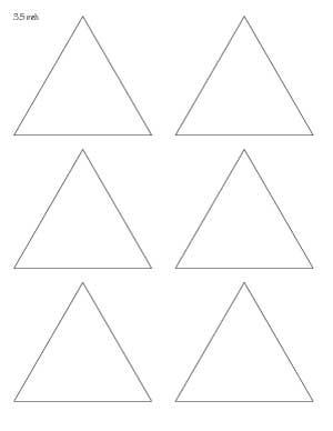 3.5 inch triangle template